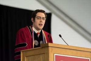 Student speaker Shaymus Hudson.