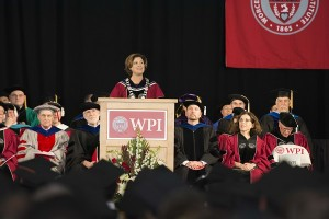 President Leshin spoke about her own experiences as a graduate student.