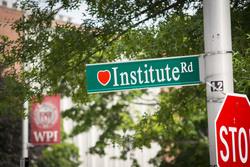Institute road sign