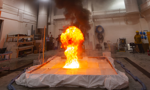 WPI burn lab