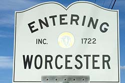 City of Worcester sign