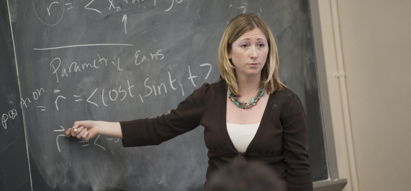 Professor giving mathematics lecture