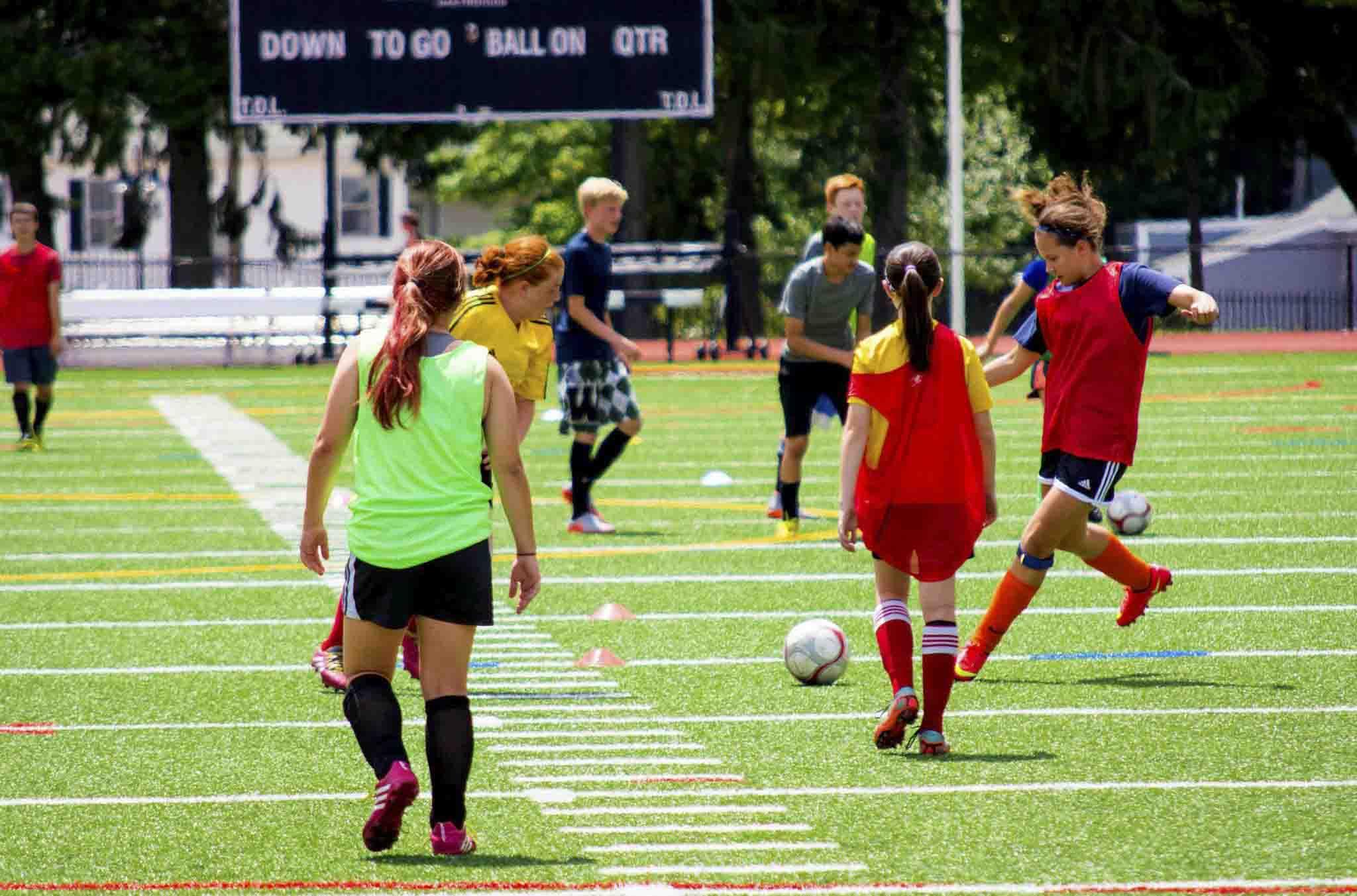 Soccer Game at WPI Summer Camp