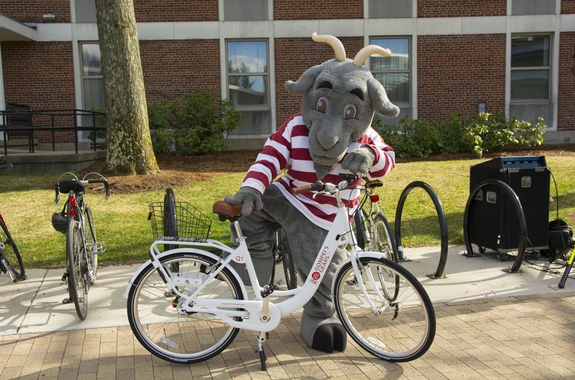 Gompei with a Bike