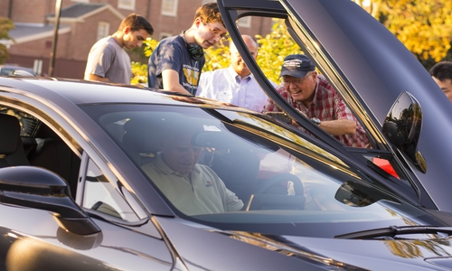 WPI electric vehicle car show 2016