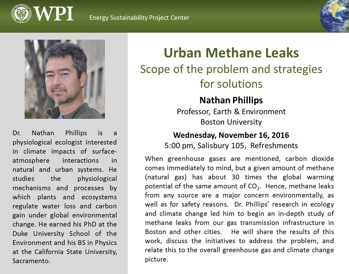 Urban methane leaks seminar