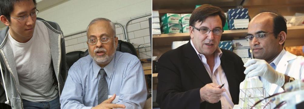 AAAS Fellows Ramdas Ram-Mohan, left, and Jose Arguello