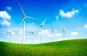 Energy illustration of windmill