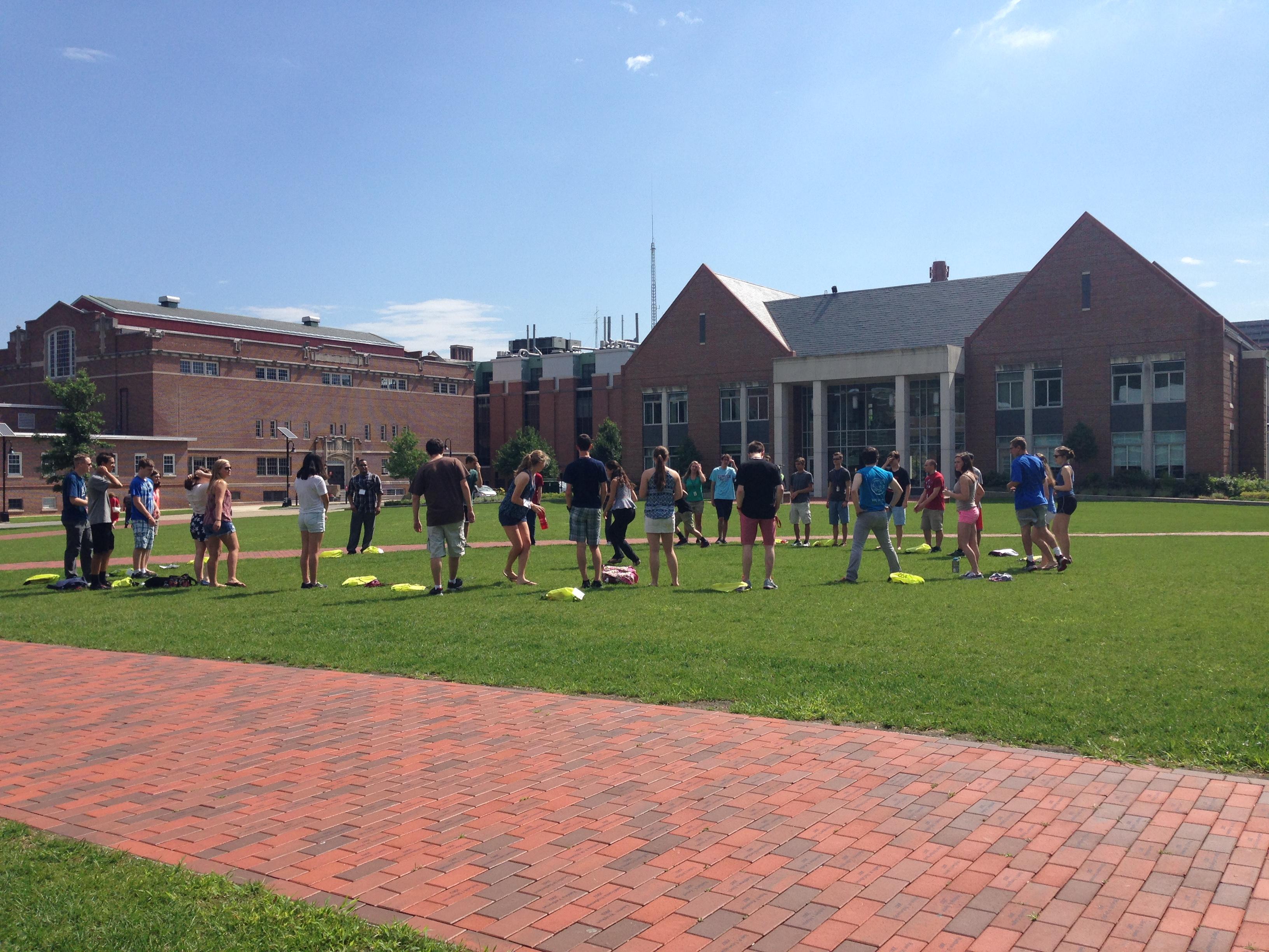 Launch participants outdoor activities