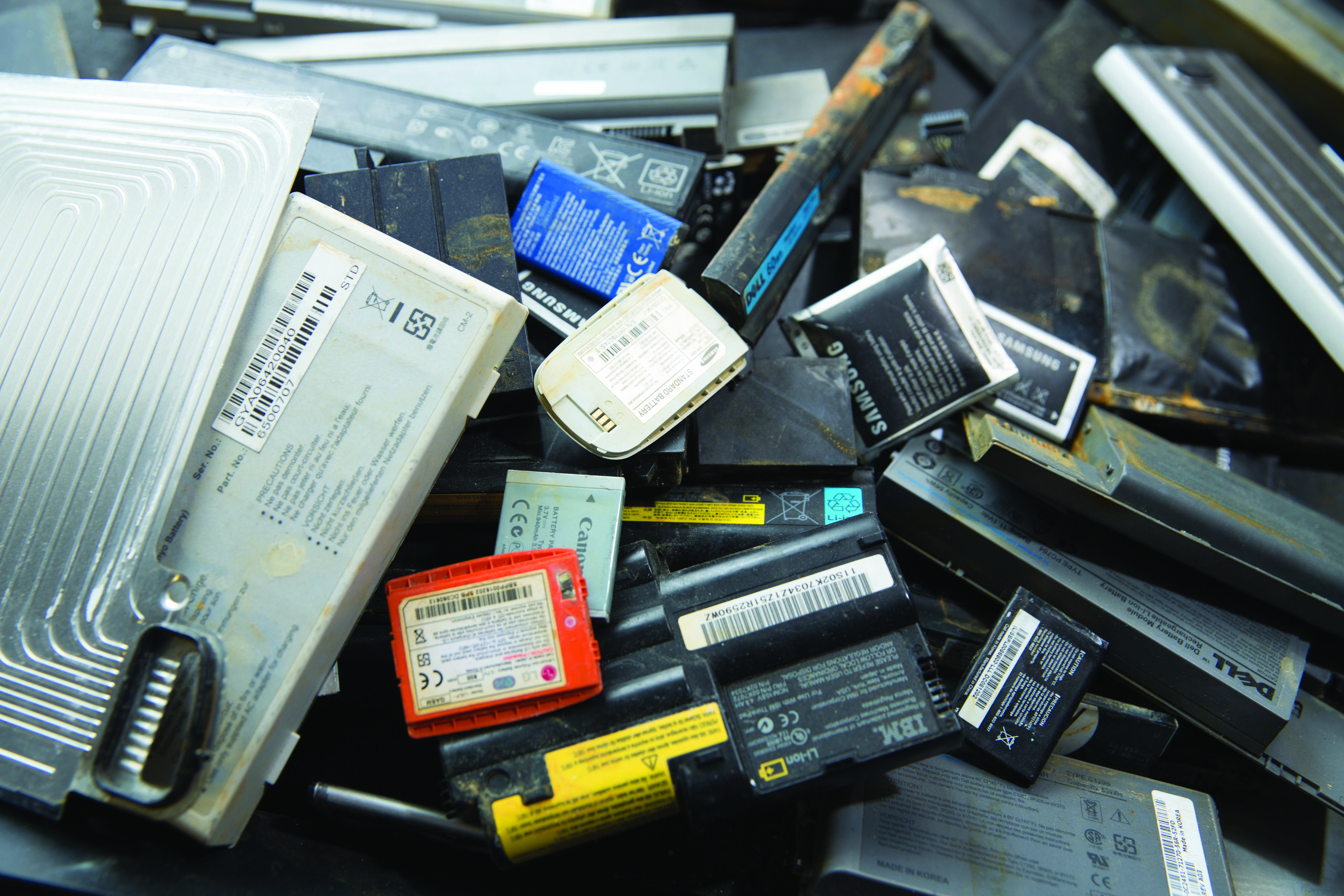 Electronics recycling pile