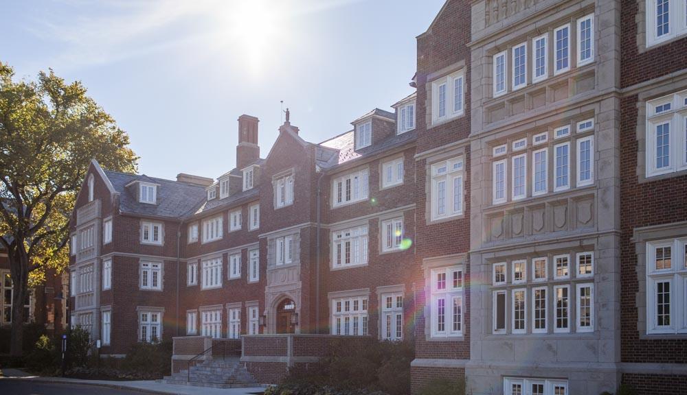 Sandford Riley Hall side view
