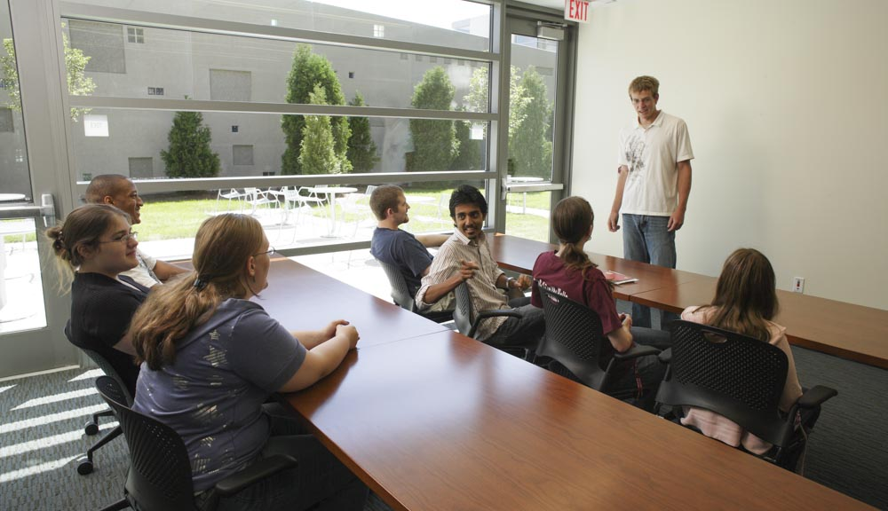 Students in the conference room