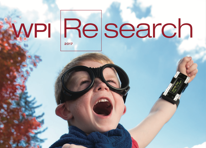 WPI 2017 Research Magazine cover photo