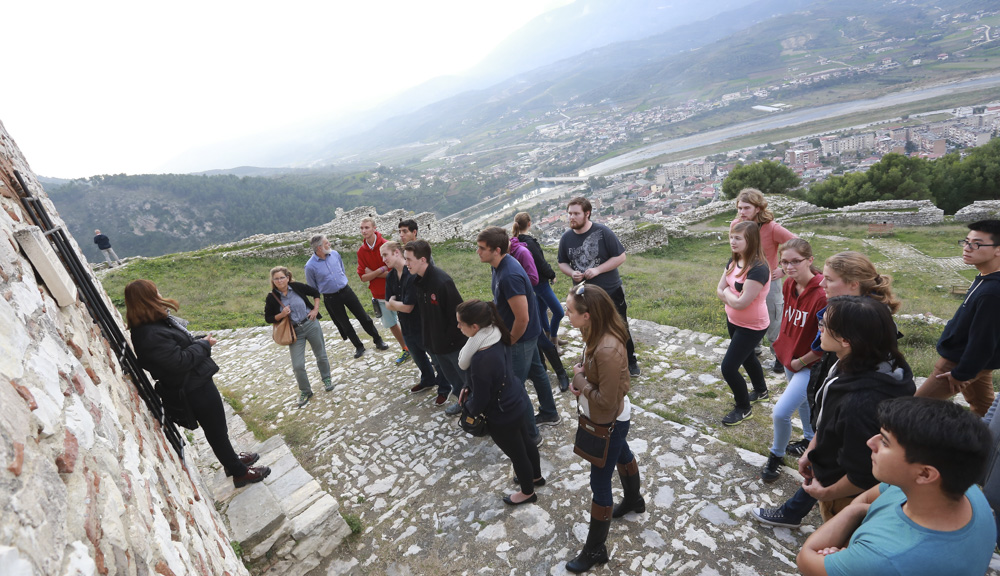 Enjoying a trip to the Berat Castle on a weekend excursion three hours out of the capital city of Tirana