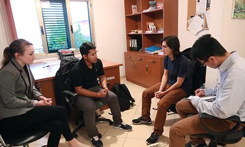 YUNUS team at sponsors office