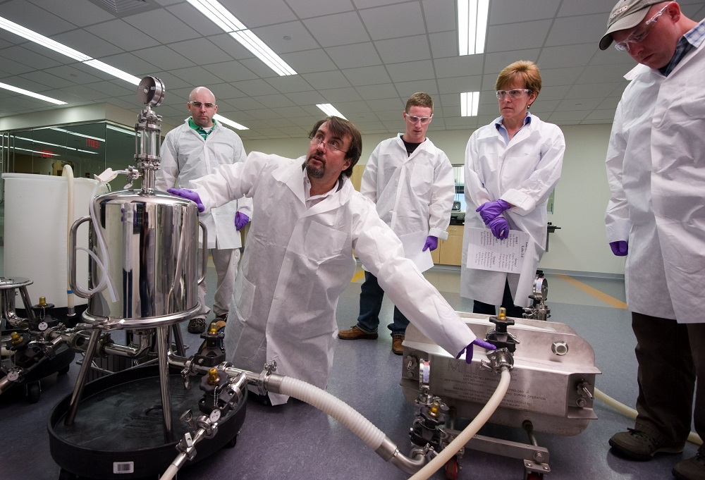 Biotech professionals are trained at WPI's Biomanufacturing Education and Training Center.