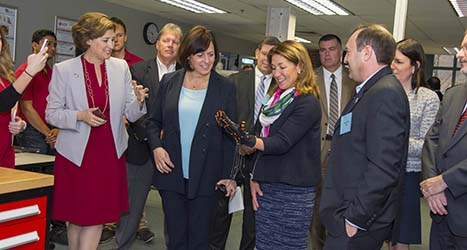Laurie Leshin, Karyn Polito at PracticePoint announcement