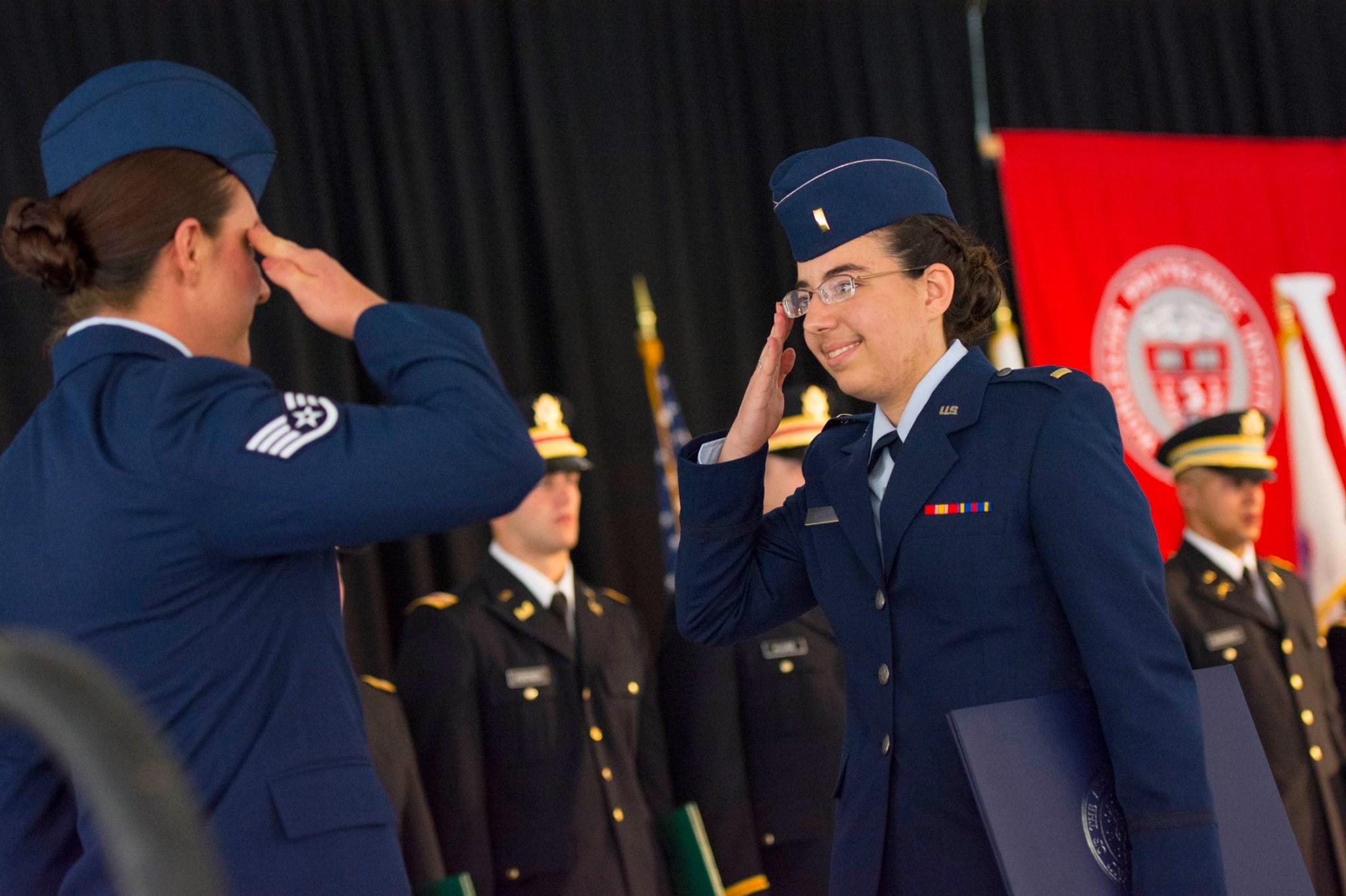 WPI ROTC commissioning