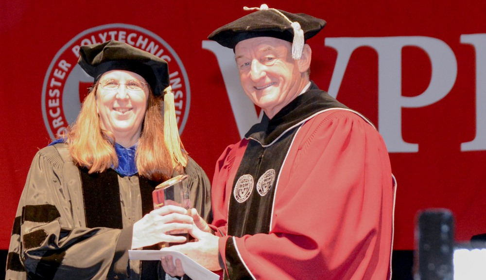 Diane Strong received the 2017 Chairman's Exemplary Faculty Prize from Board Chairman Jack Mollen