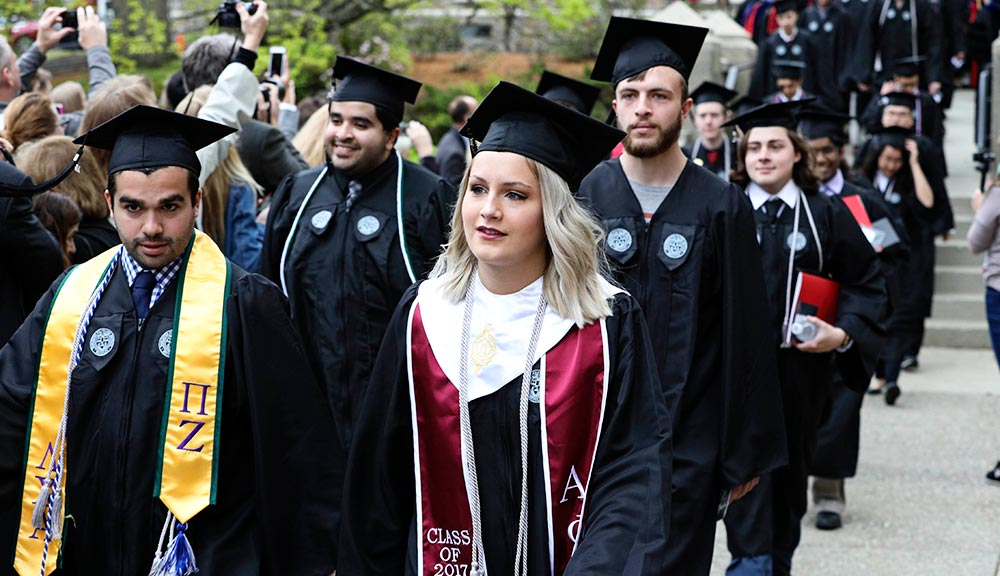 2017 commencement processional