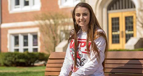 WPI student Toni
