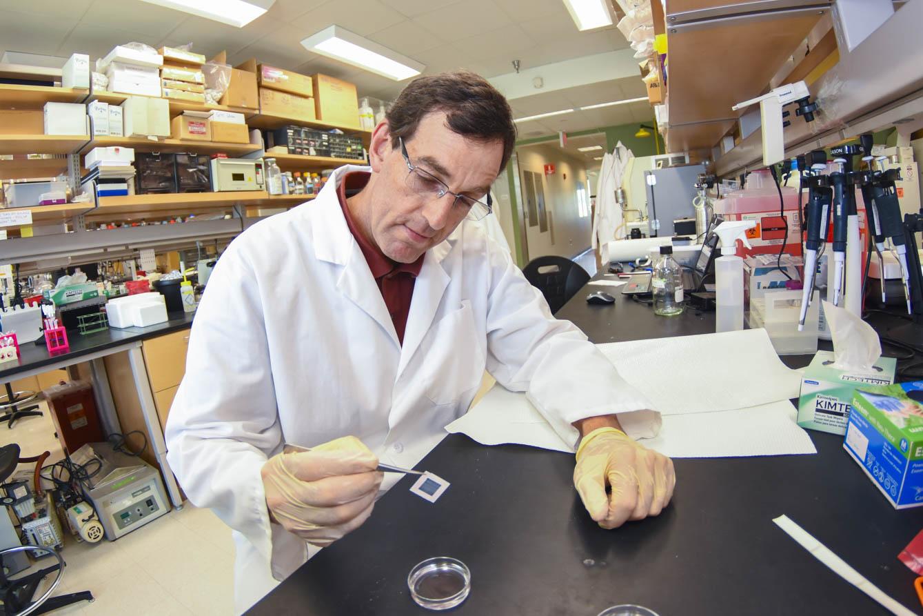 George Pins in lab