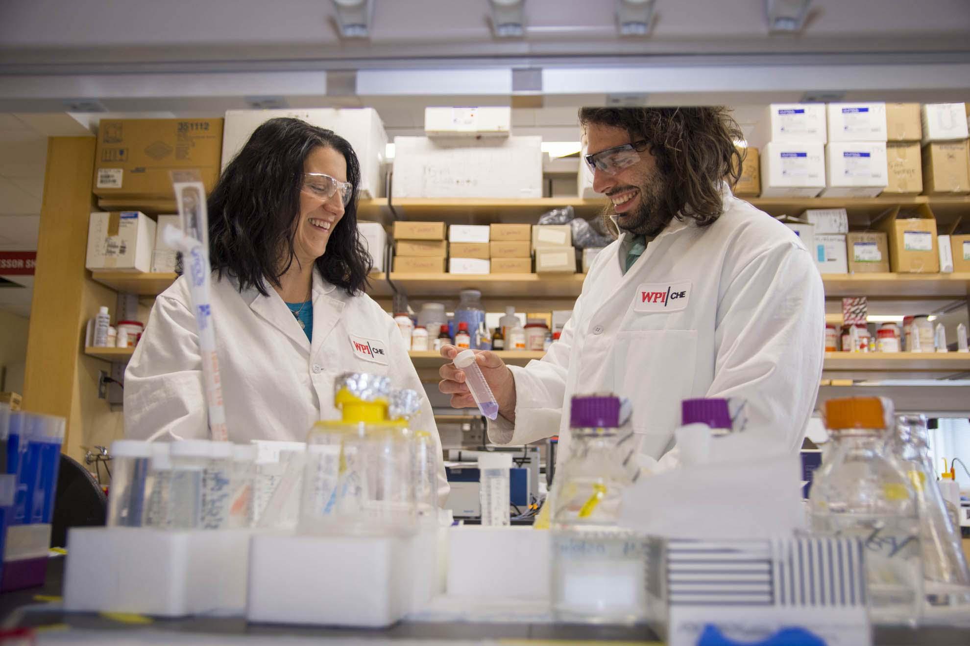 WPI Researchers in Lab
