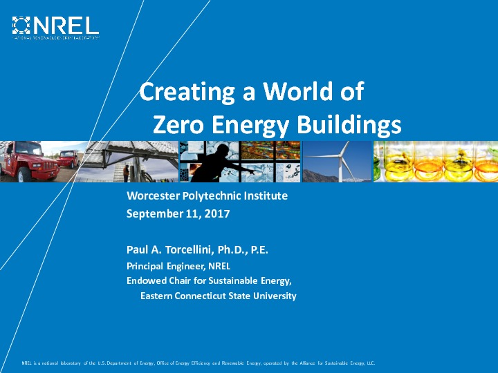 Creating Zero Energy Buildings