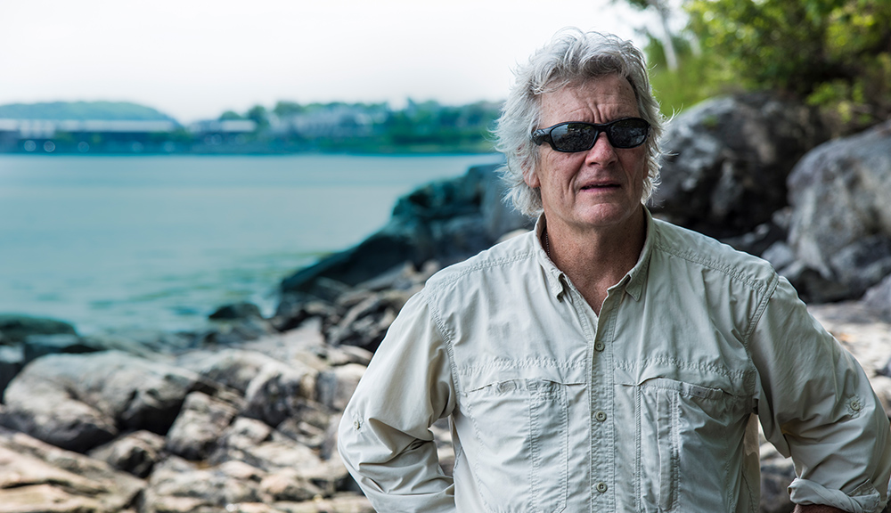 Image of Fred Bianchi along the beach edge