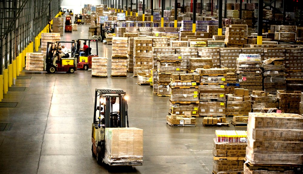 Global supply chains include distribution centers like this warehouse in England.