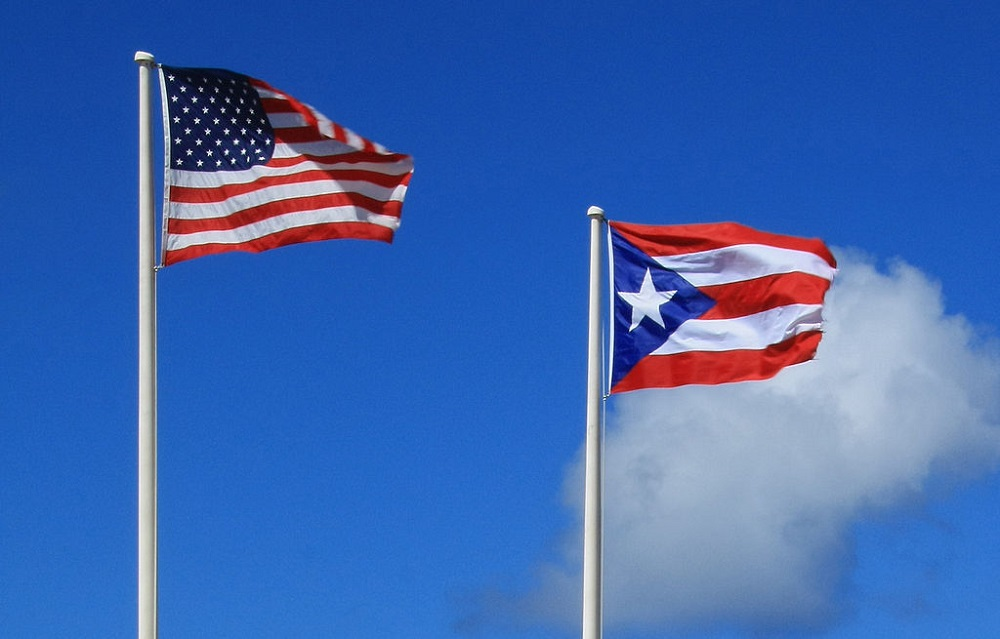 Puerto Rico and U.S. flags