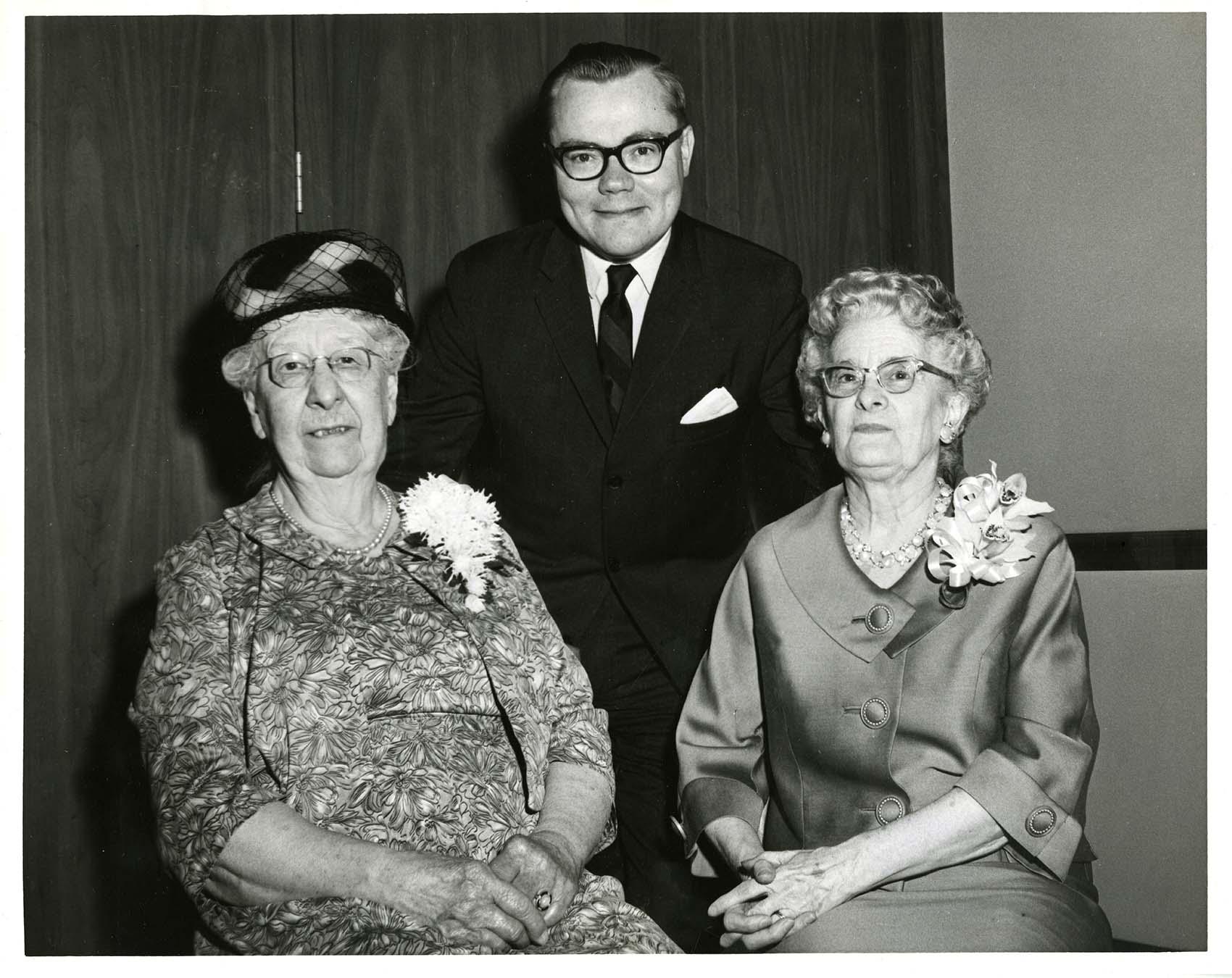 Portrait of three librarians
