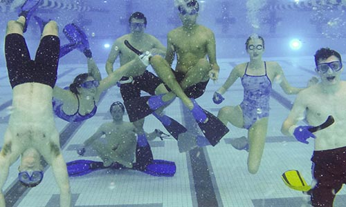Underwater hockey at WPI