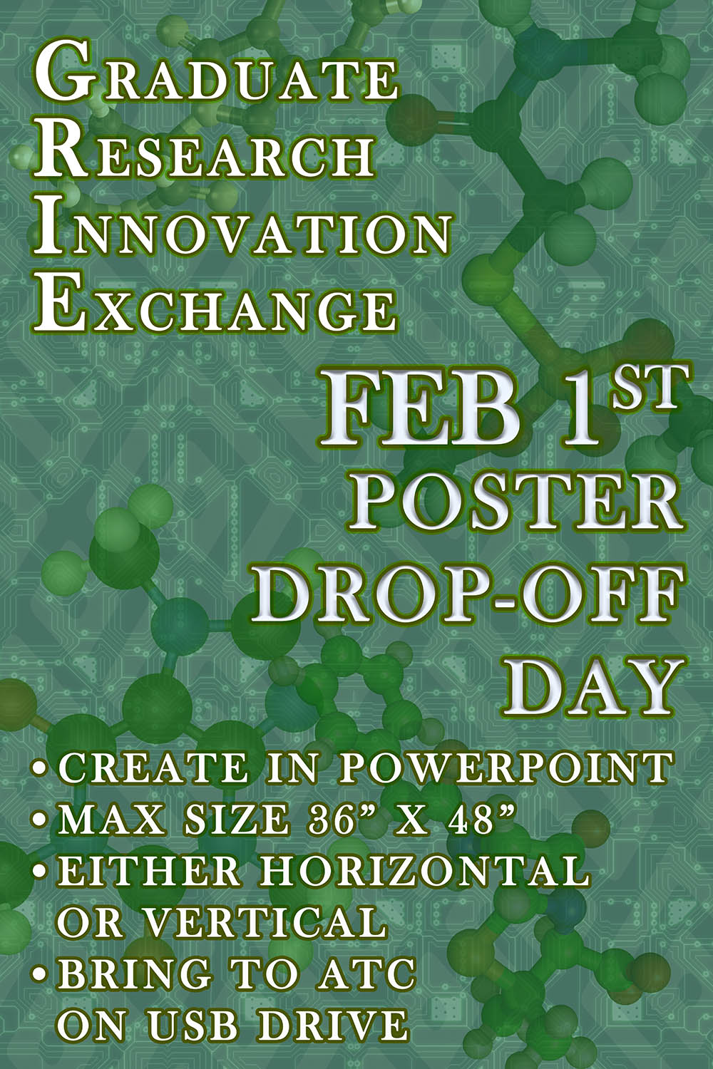 GRIE 2018 Poster Drop-Off Day Announcement