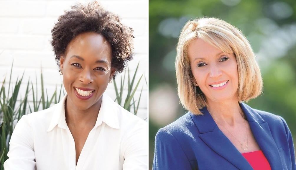 "Margot Lee Shetterly, left, is the author of ""Hidden Figures: The American Dream and the Untold Story of the Black Women Mathematicians Who Helped Win the Space Race""; Marcia McNutt is the president of the National Academy of Sciences"