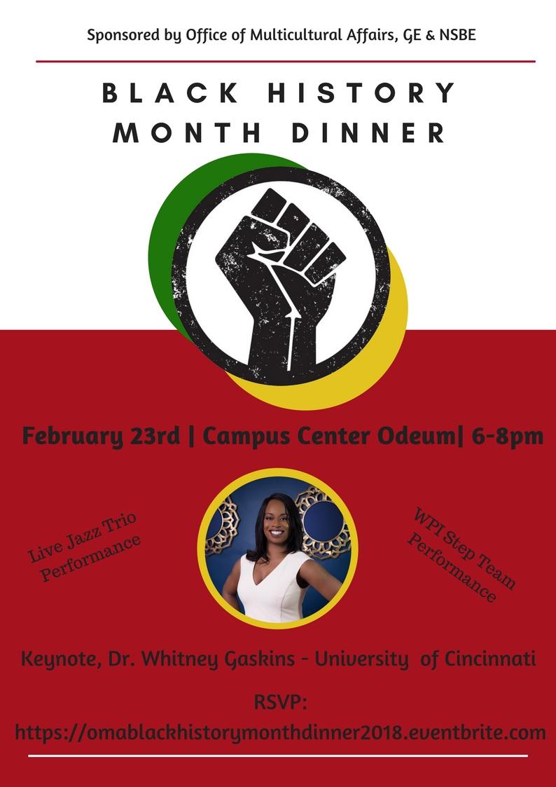 Black History Month Dinner Flyer