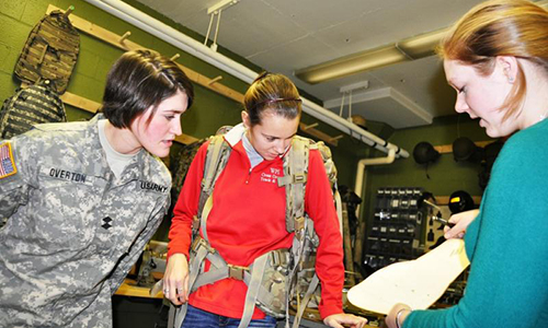 Students at the U.S. Army Natick Soldier Research, Development, and Engineering Center (NSRDEC).