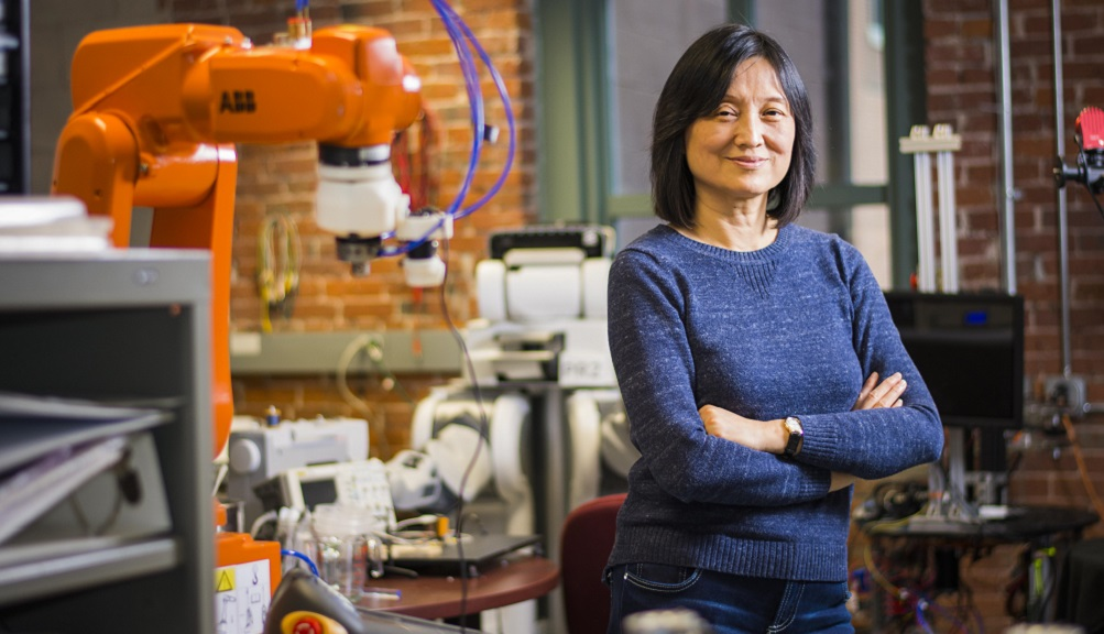 A photo of Jing Xiao at WPI.