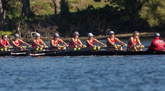 WPI women's rowing team