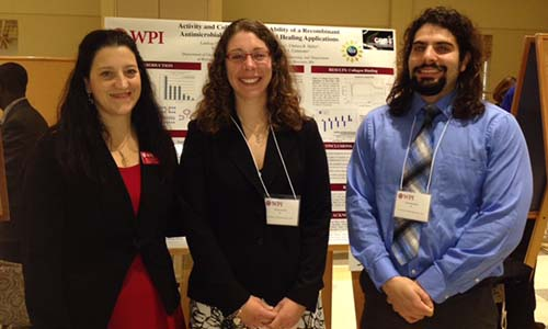 WPI faculty mentor and students
