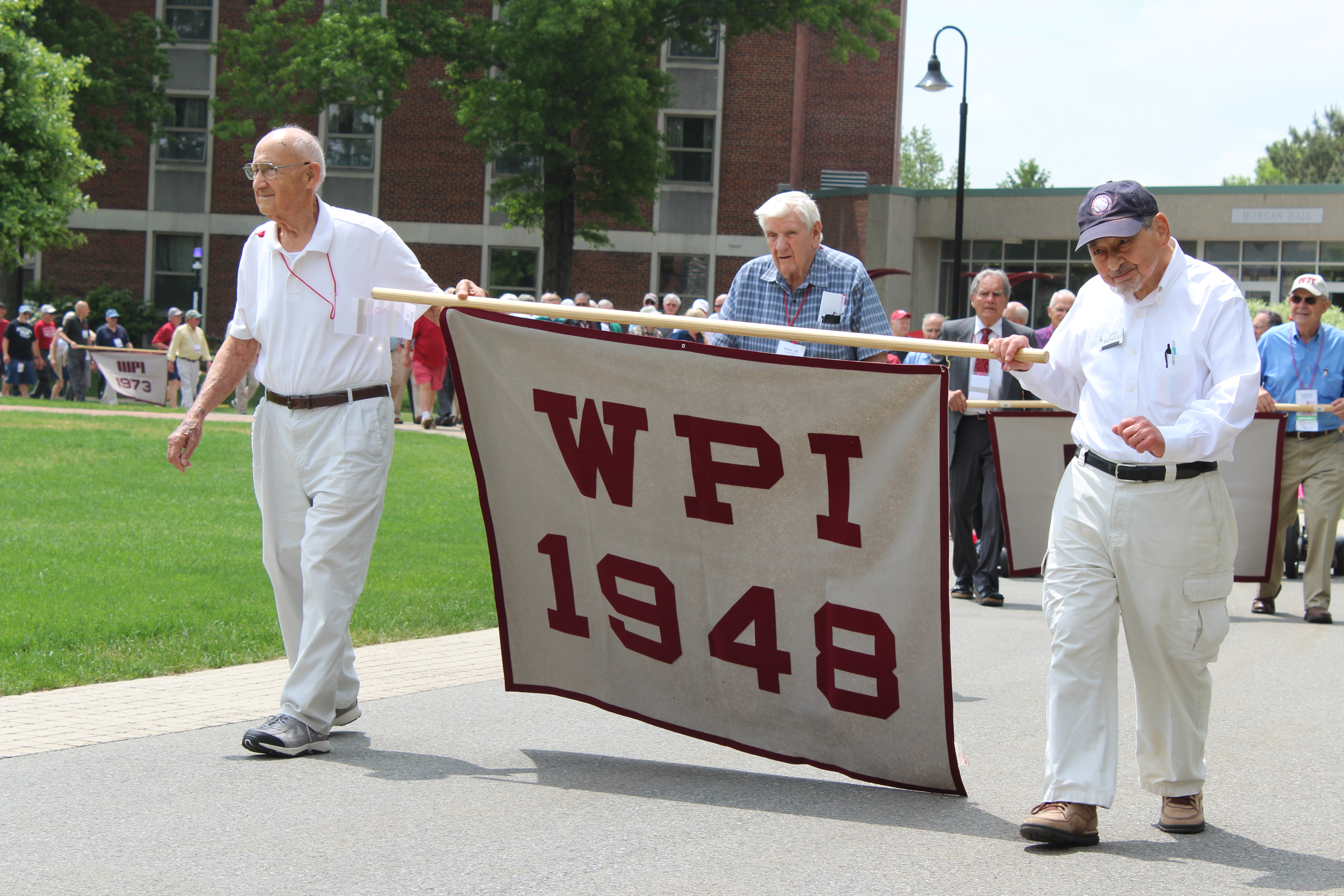 Three members of the Class of 1948 attend Alumni Weekend 2018.