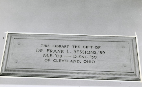 alden library plaque