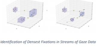 Identification of Densest Fixations in Streams of Gaze Data