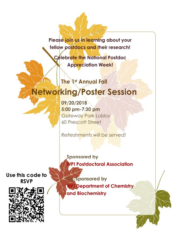 1st Annual Fall Networking/Poster Session