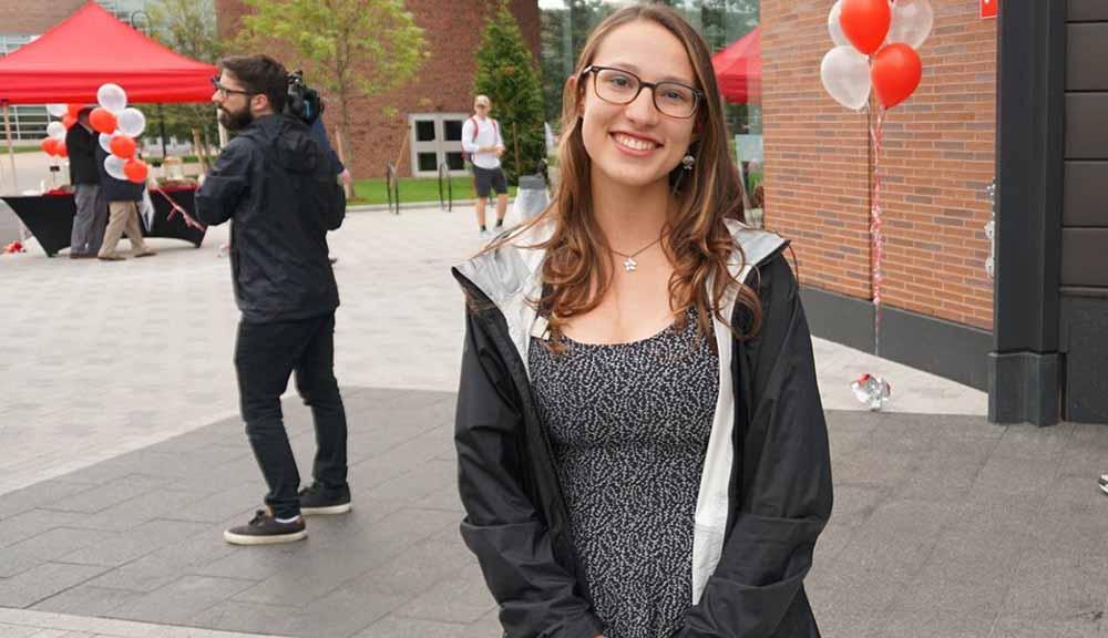WPI female student