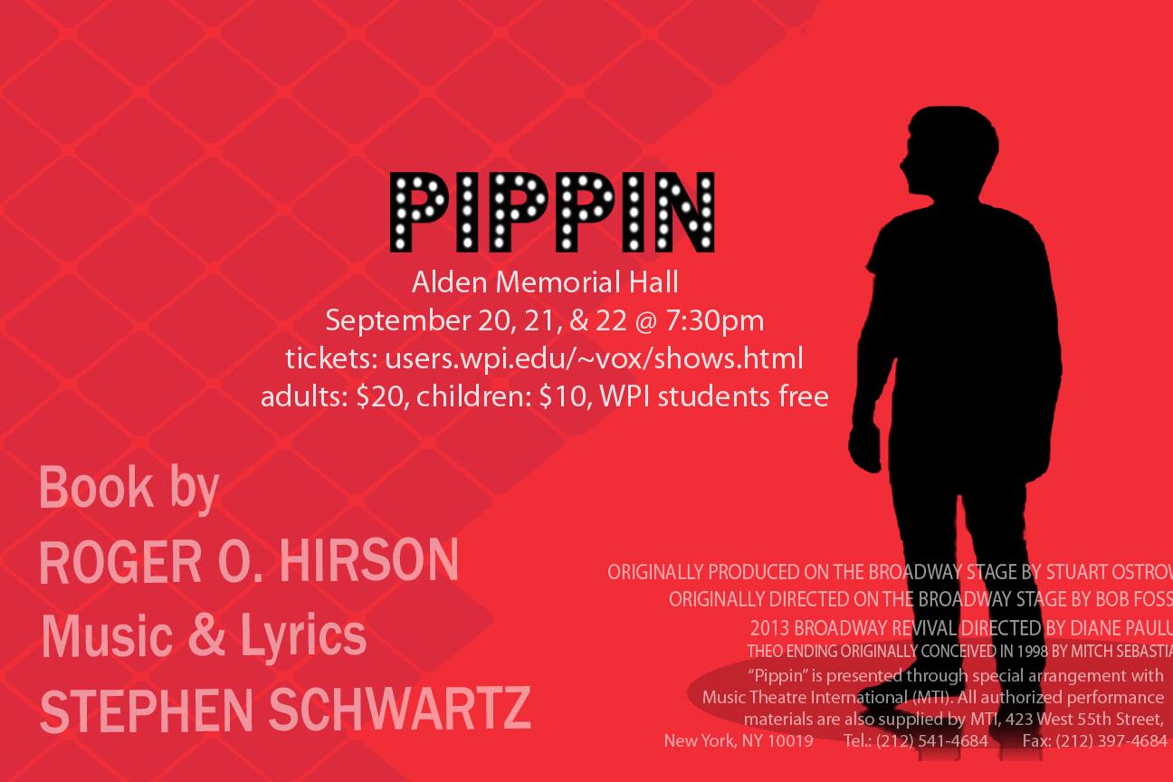 WPI musical theatre present Pippin poster