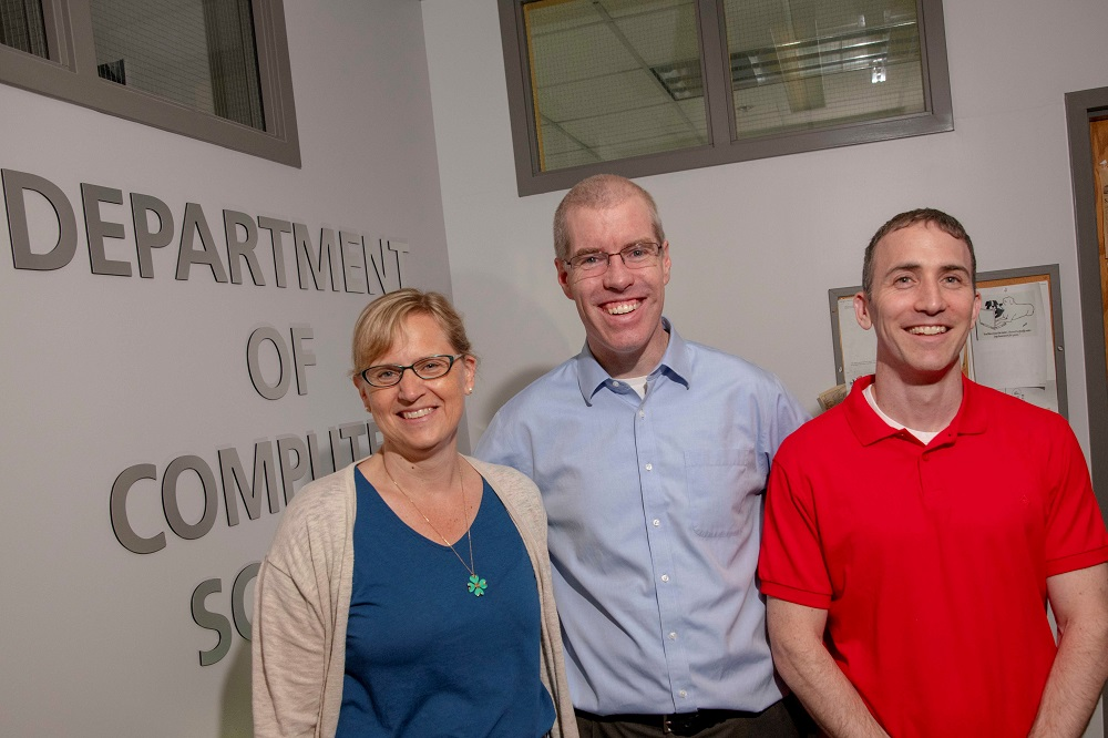 ASSISTments creators Cristina and Neil Heffernan are working with Jacob Whitehill (right) and colleagues at Lesley University to develop a teacher feedback tool.