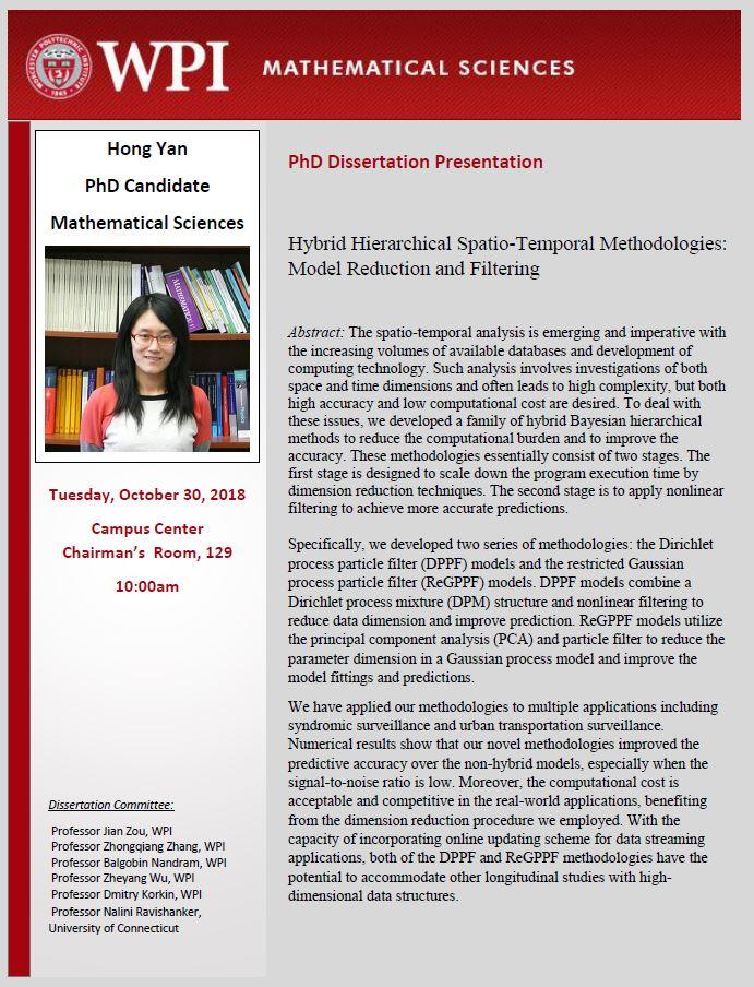 Hong Yan PhD Dissertation Presentation