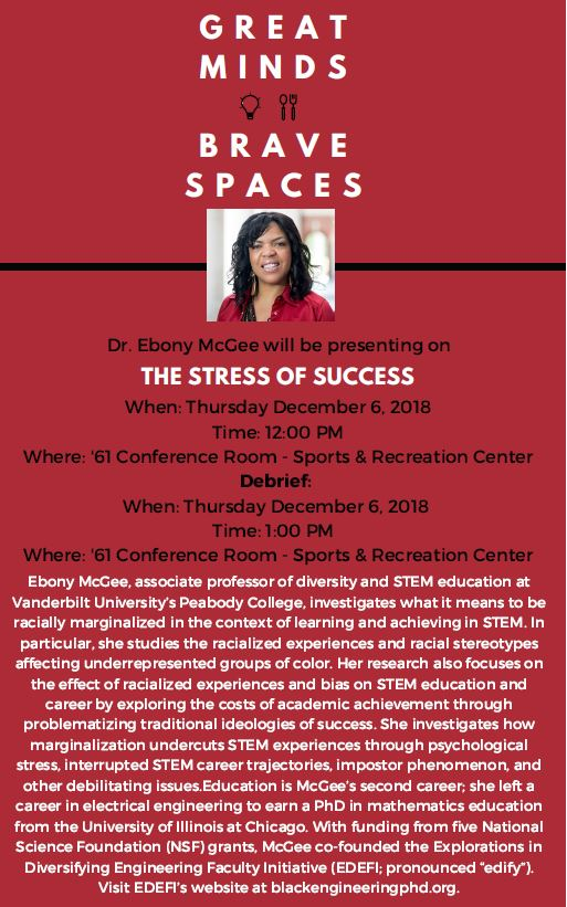 Great Minds, Brave Spaces: Ebony McGee The Stress of Success alt