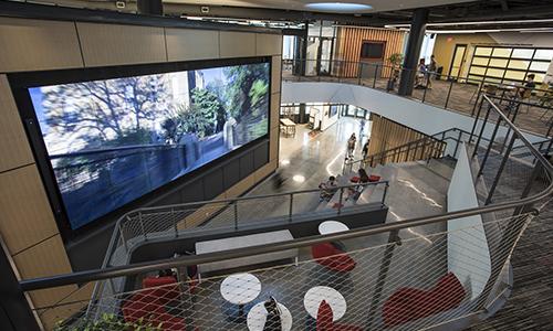 Foisie Innovation Studio feature wall alt